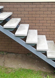 Phone Matthews Concrete Stair Treads And Metal Stringers